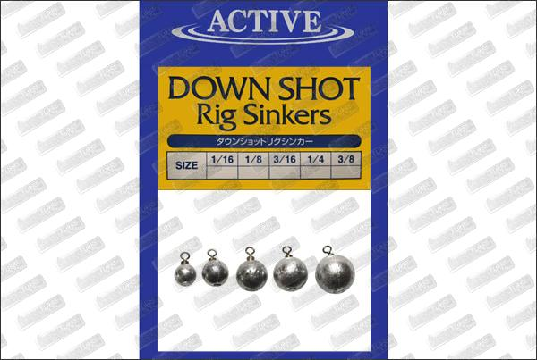 ACTIVE Down Shot Rig Sinkers