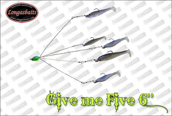 LONGASBAITS ''Give Me Five'' 6''