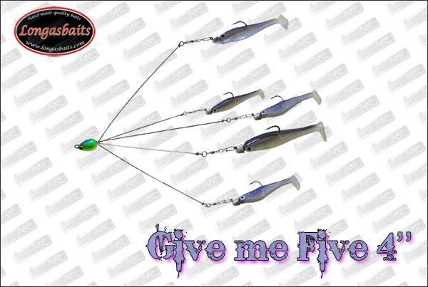 LONGASBAITS ''Give Me Five'' 4''