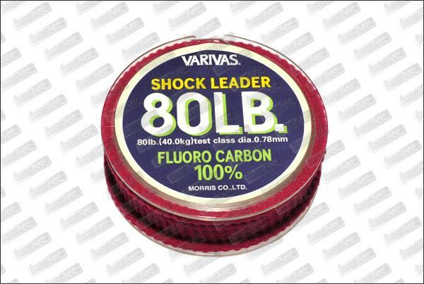 Fluorocarbon VARIVAS Shock Leader 80 lb 30m