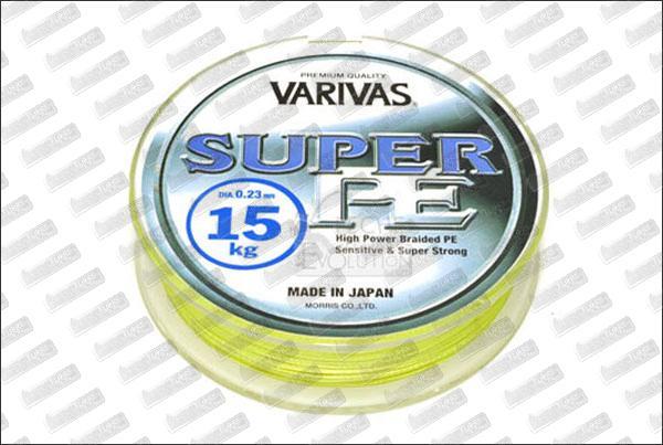 VARIVAS Super PE jaune Ø15 mm (9kg) 135m