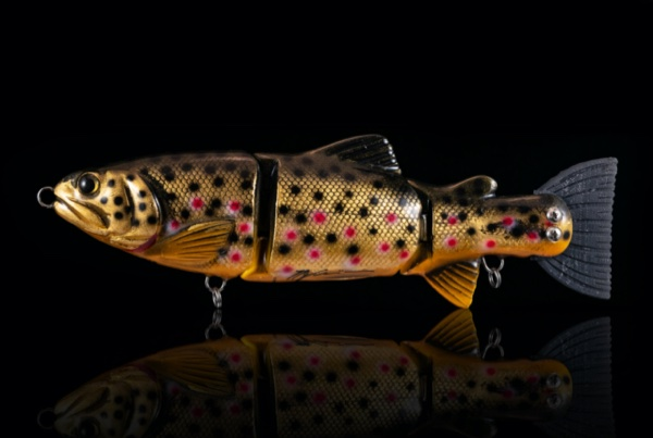 LUCKY LURES Lucky Trout #Brown Trout Gold Leaf